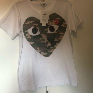 Comme des Garçons Camo Heart Shirt M